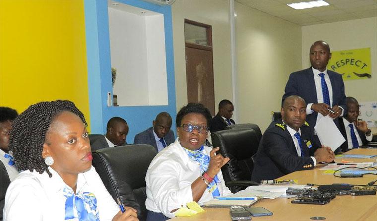 URA commissioner general Doris Akol addressing the media