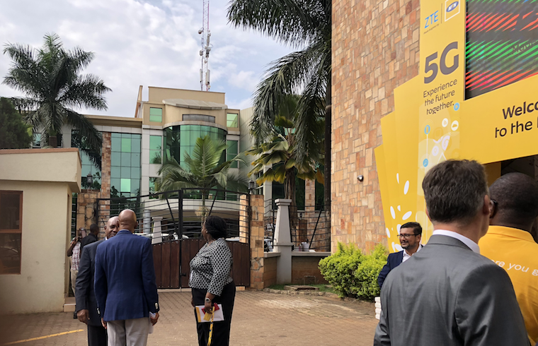 MTN officials during the unveiling of 5G technology earlier this year