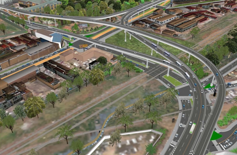 Artistic impression of Kitgum House flyover