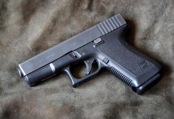 A Glock pistol