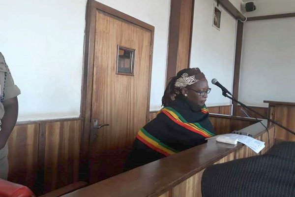 Dr Stella Nyanzi in court. Photo: @chapter4uganda
