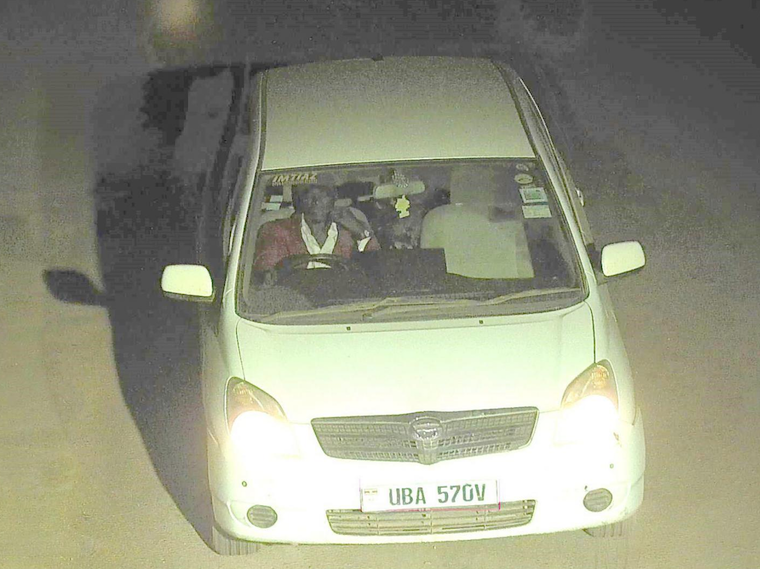 One of the suspects captured by CCTV driving Nagirinya's car
