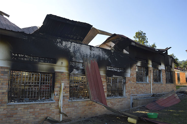 The ministry says following the fire incident, the students and community need counselling