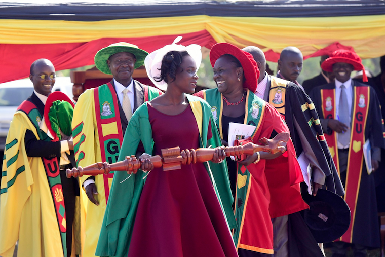 President Museveni at Gulu university graduation