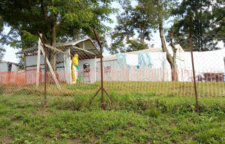 Ebola isolation unit at Bwera hospital