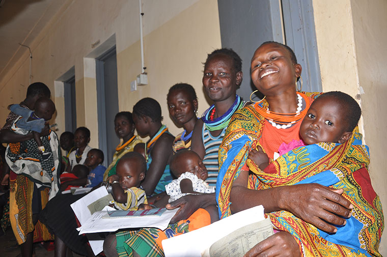 Mothers waiting to receive services at Moroto hospital