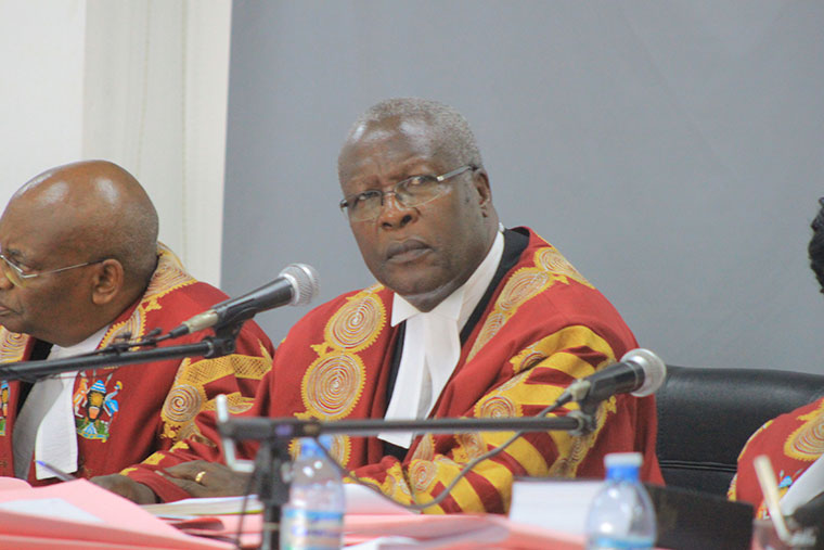 Former Chief Justice Bart Katureebe who retired recently
