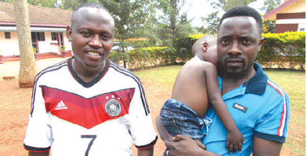 Alton Kasolo (L) and Swengere at Tourist Bay hotel in Jinja