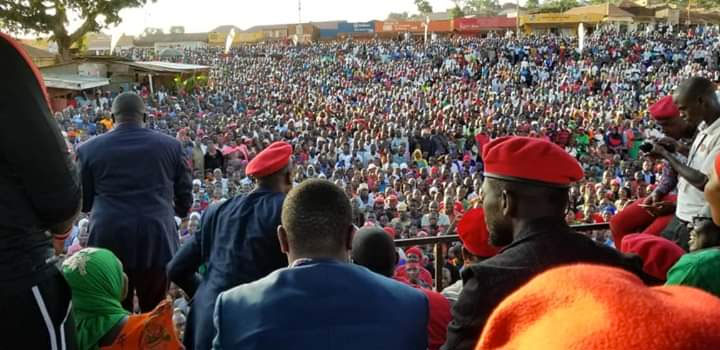 MPs at a rally in Butambala