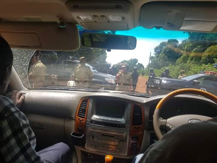 Police has deployed heavily on the lake to prevent FDC leaders from going to Kalangala
