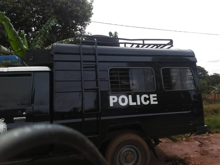 Bobi Wine was whisked away into a mobile police cell