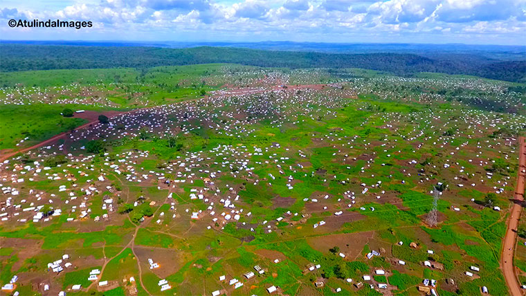 Aerial view of Kyangwali refugee settlement area. Photo: @Atulinda_Allan