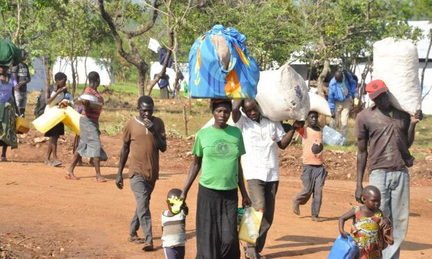 Refugees at Omugo resettlement centre. FILE PHOTO/World Vision