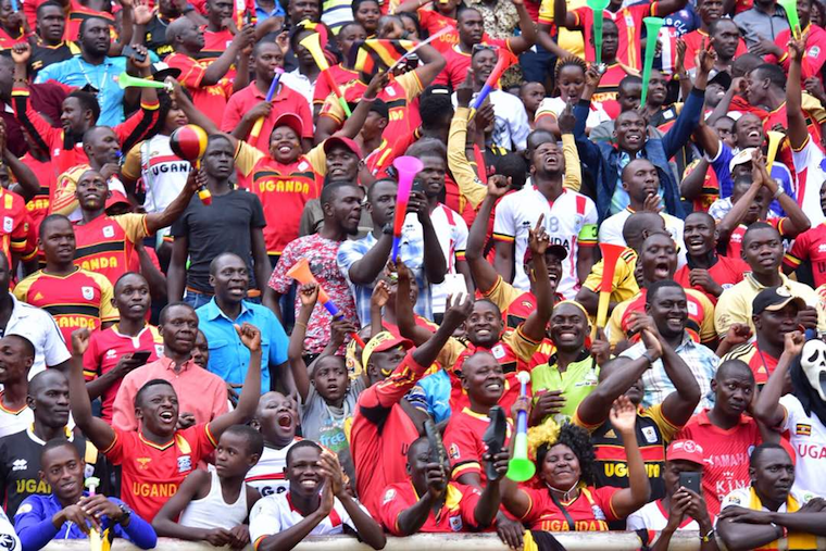 Cranes fans celebrate qualifying for AFCON