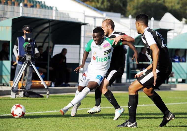 Muhammad Shaban in action for Moroccan side Raja Casablanca
