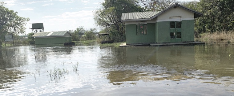Flooded UWA offices