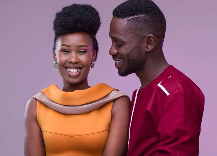Barbie Itungo and husband Bobi Wine
