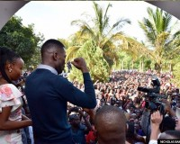 Bobi Wine addressing supporters