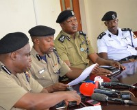 Police chiefs address media